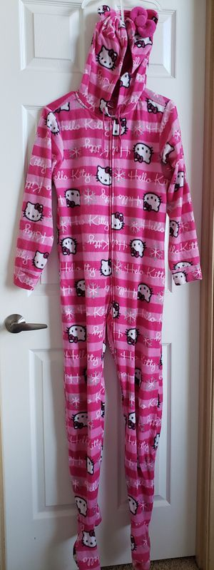 Hello Kitty onsie footie adult pajamas for Sale in Tacoma, WA
