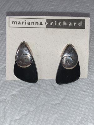 Sterling Silver onyx earrings Sajen for Sale in West Jordan, UT