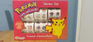 New Vintage 1999 Sandylion Pokemon Sticker Extravaganza OVER 125 Box for Sale in Los Angeles, CA