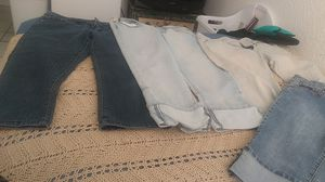 Assorted jeans knee high and 1 camaflage short Size 7and 8 all for12.00 for Sale in Riverside, CA