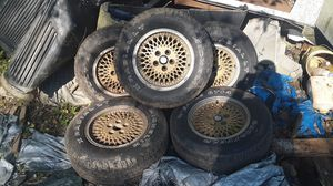 "Jeep OEM ""GOLD"" wheels/rims, set of Five 15"" LT Michelin tires, Trades for Sale in Lancaster, PA"