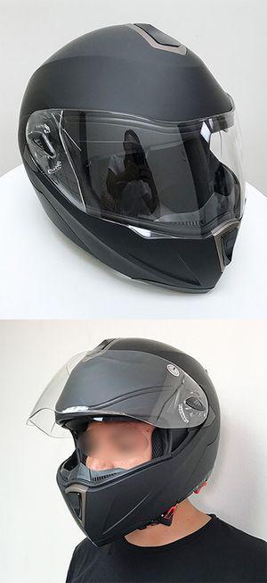(NEW) $45 Full Face Motorcycle Bike Helmet Flip up Dual Visor (M, L, XL) DOT Approved for Sale in Whittier, CA