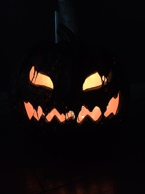 LAST ONE LEFT 🎃 CUSTOM HALLOWEEN BLOW MOLD JACK O LANTERN BRAND NEW BURNING EERIE EFFECT 🎃 PUMPKIN DECORATION PRICE FIRM for Sale in Upland, CA