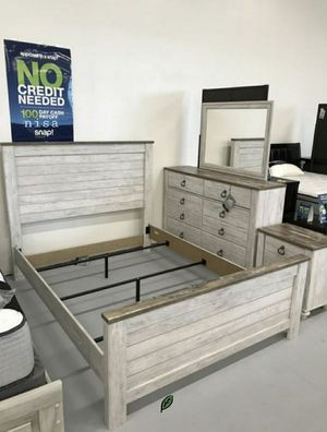 🍾🍾 Best Offer ‼ Willowton Whitewash Panel Bedroom Set | B267 85 for Sale in Jessup, MD