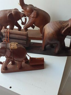 Wood Elephante Figures for Sale in Stanton,  CA