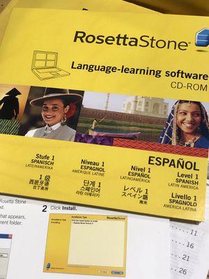 Rosetta Stone Spanish Level 1 for Sale in Monroeville, PA