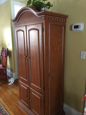 Carved Pine entertainment center for Sale in Boston, MA