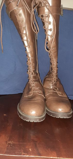 LACE UP KNEE-HIGH COMBAT BOOTS (WIDE WIDTH & WIDE CALF) for Sale in Fresno, CA