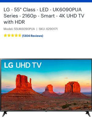 "LG smart tv 55"" 4k for Sale in Marietta, GA"