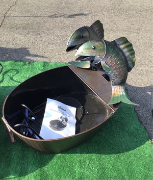 Metal fish water fountain for Sale in Altadena, CA