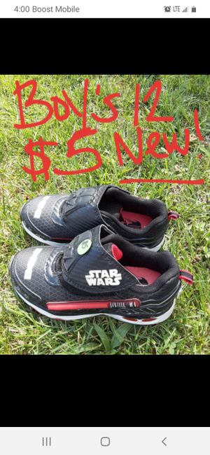 Boys size 12 star wars sneakers brand new for Sale in Saint Thomas, PA