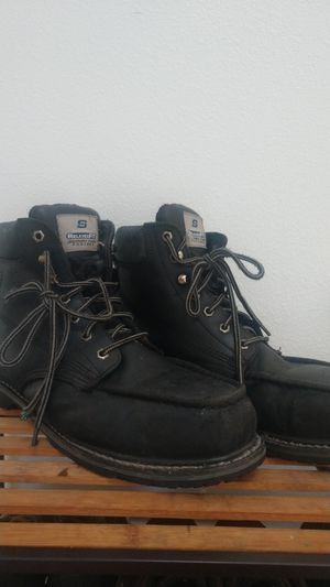 Size 12 Men's Skechers relaxed fit memory foam footbed boots work boots for Sale in Lake Stevens, WA