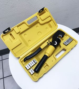 New $35 Crimper 10 Ton Hydraulic Crimping Tool /w 9 Dies Wire Battery Cable Lug Terminal for Sale in South El Monte, CA