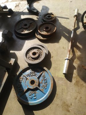Olympic weights for Sale in Rosenberg, TX