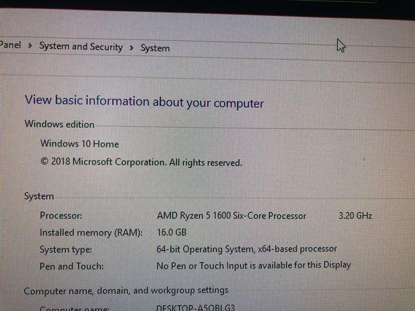 RGB Gaming PC (6 core cpu, 16gb ram, 1060 6gb)