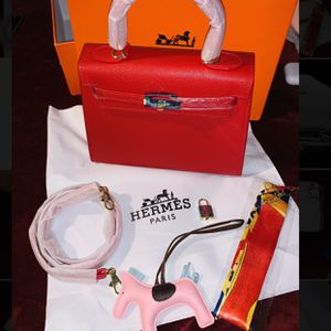 Hermes Mini Kelly Twilly Bag Charm/Horse/Scarf/lock for Sale in Portland, OR
