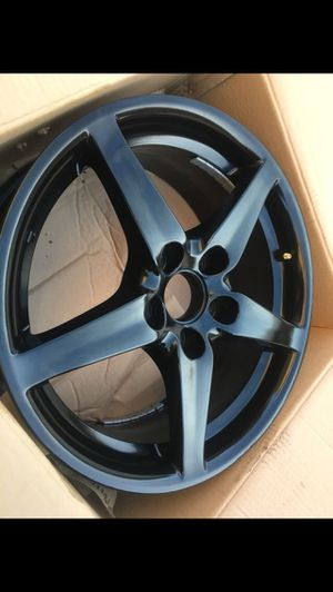 """Acura Rsx Dc5 Type S Wheels Matte Black like new $450.00 Firm 5x114.3 Rim size17"""" for Sale in Vernon, CA"""