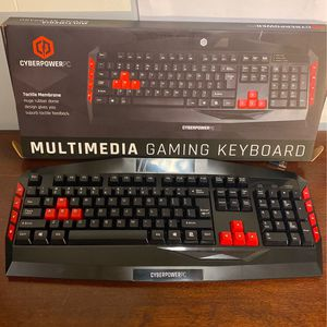 Red And Black Multimedia Gaming Keyboard for Sale in Newton, MA
