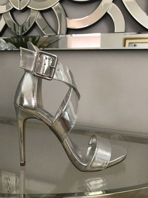 New Silver Sandals Heels new in box Size 7, 8 or 9 for Sale in Miami, FL