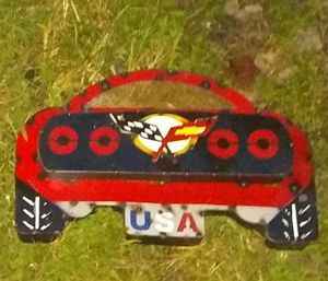 """New Recycled Metal Race Car Sign - Dimensions: 12""""H x 18""""L x 3""""W • Corvette Design for Sale in Nashville, TN"""
