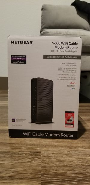 NETGEAR WiFi Cable Modem Router for Sale in Colorado Springs, CO