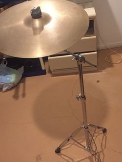 "Zildjian A 16"" Thin Crash with stand for Sale in West Bloomfield Township,  MI"