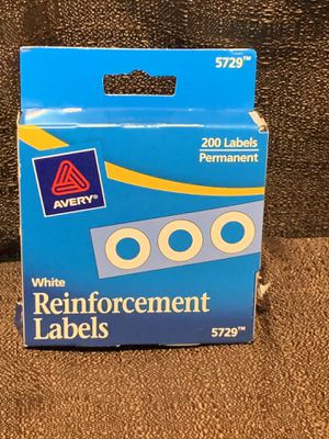 AVERY REINFORCEMENT LABELS White SELF ADHESIVE 5729 for Sale in Kissimmee, FL