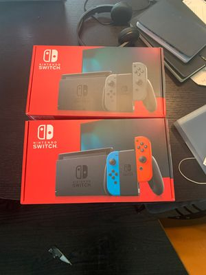 Nintendo Switch V2 with Grey Cons or Red/Blue Cons Brand New in Box!! for Sale in Houston, TX