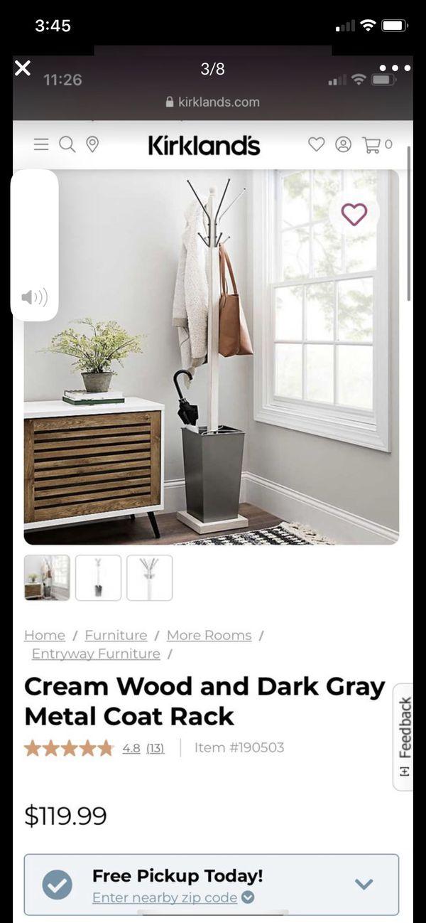 New metal/wood coat hanger