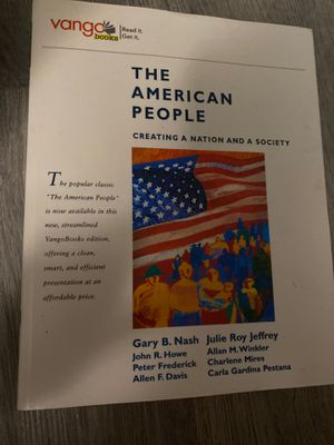 The American People: Creating a Nation and a Society Vanga Books Nash for Sale in Ithaca, NY
