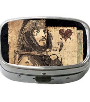 DISNEY PIRATES OF THE CARIBBEAN.. CAPTAIN JACK SPARROW ALUMINUM & GLASS PILL / TRINKET BOX! LIMITED EDITION! BRAND NEW for Sale in Las Vegas, NV