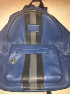 Rare Authentic Coach Mens Backpack Blue for Sale in Peoria, AZ