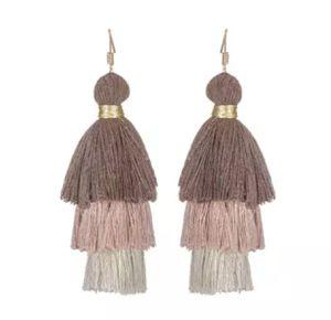 Brown/tan fringe earrings for Sale in Houston, TX