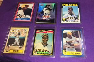 Six Barry Bonds Cards; three rookie cards. for Sale in Youngtown, AZ