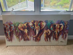 Elephant Canvas Painting for Sale in NJ, US