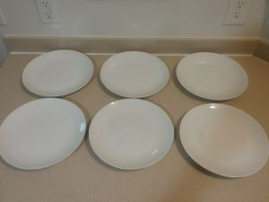 Six Gibson USA White 10.5 Inch Dinner Plates for Sale in Charleston, SC
