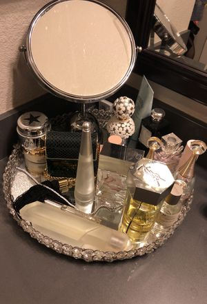 Large crystal mirrored perfume tray (perfume not for sale) for Sale in Dallas, TX