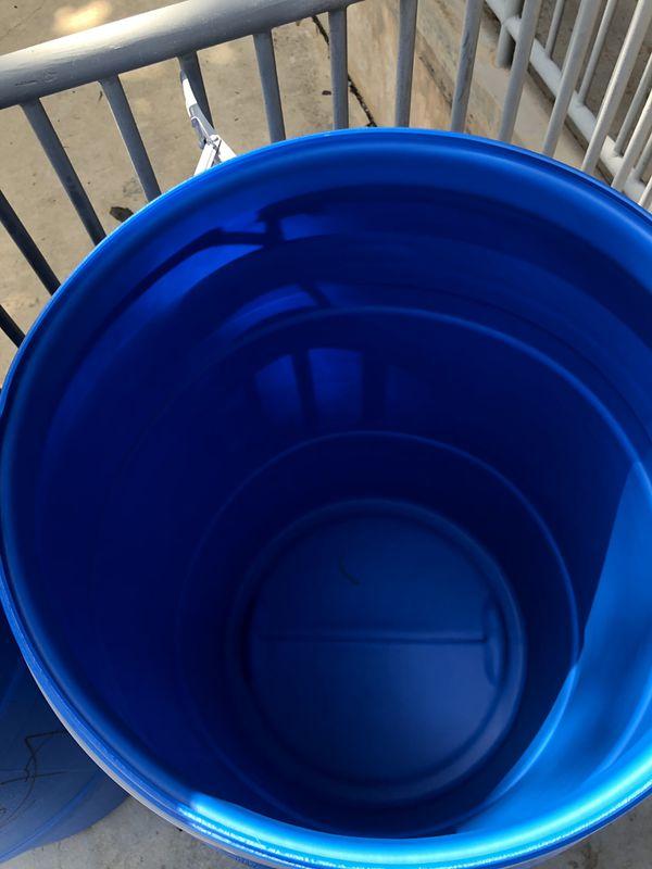 55 Gal Blue Plastic Drum