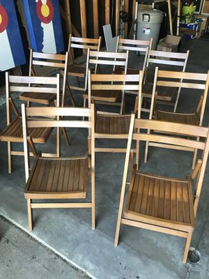 Antique Folding Chairs for Sale in Denver, CO