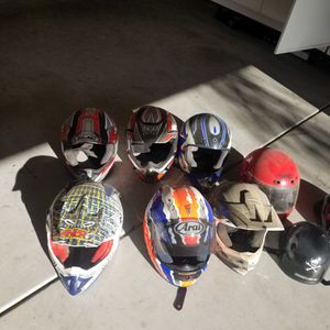 Dirt bike helmets,for age 10 -18 for Sale in Corona, CA