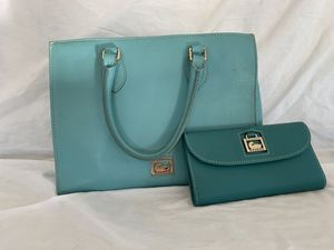 Dooney and Burke teal wallet and bag for Sale in Surprise, AZ