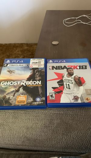 Ghost recon and 2k 18 for Sale in Medford, OR