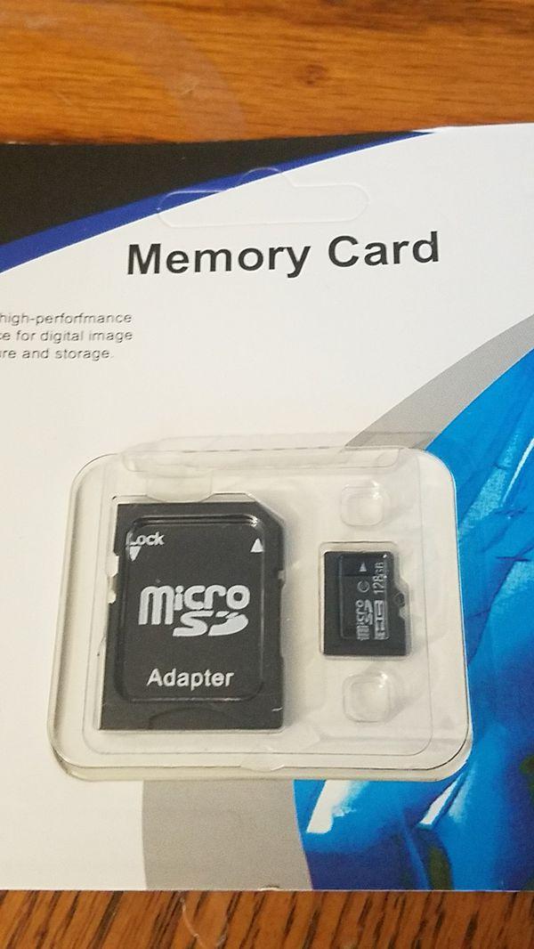 New 128GB memory card +adapter