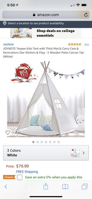 Kid's Teepee Tent for Sale in Colma, CA