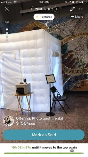 $150/hr for 4+ hours inflatable photo booth rental for Sale in Philadelphia, PA