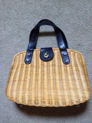 Ann Taylor Rattan/Bamboo Purse Bag for Sale in Dallas, TX
