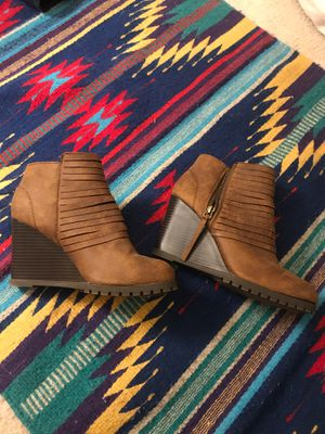 Brown ankle high boots for Sale in Alexandria, VA