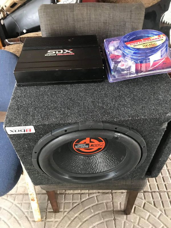 Quantum audio 2500 watts and amp ,wires to connect