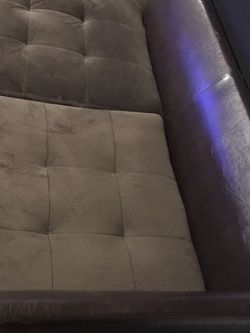 Cute Brown Semi Sectional ( With Added Leather $ for Sale in Flossmoor,  IL