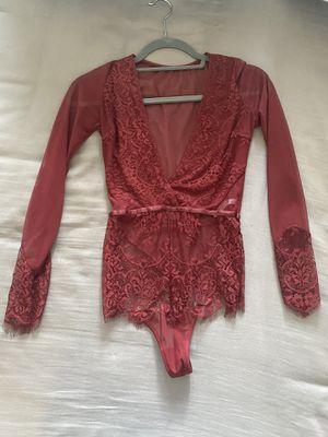 Burgundy bodysuit for Sale in Salisbury, MD